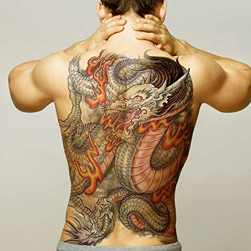 tzxdbh Tatuaje Pegatinas corporales dragón Falso Tatoo para niños ...