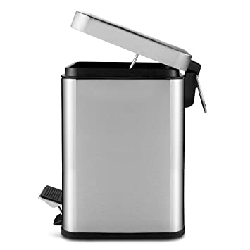 Amazoncom Vookoon Stainless Steel Trash Can 6 Liter 16 Gallon