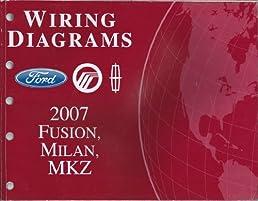 2007 ford fusion mercury milan lincoln mkz wiring diagrams ford rh amazon com 2009 mercury milan wiring diagram 2007 mercury milan wiring diagram