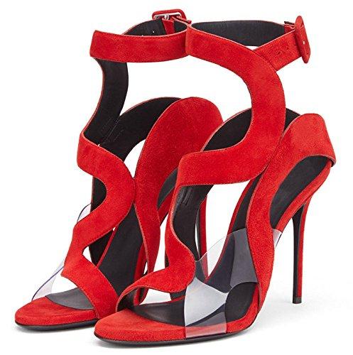 AIWEIYi - Sandalias romanas mujer Red