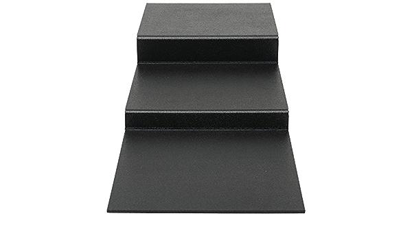 12 L x 29 3//4 W x 4 1//4 H Deli Riser 3-Step Flat Black ABS Riser