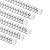 12 Pack 8ft LED Utility Shop Light Fixture, 72W