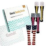 American Flag Socks, Gmark Women's Crazy Funny Chicken Legs/Boots Knee High&Shark Mid-calf Gift Sock