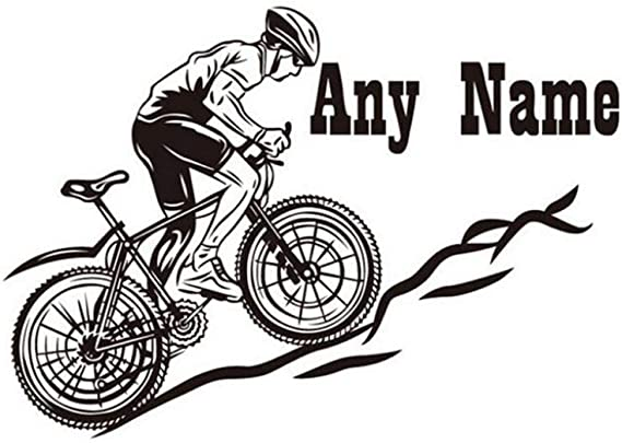 Hilai Montar en Bicicleta Cualquier Papel Nombre Pared del Vinilo ...