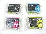 Genuine Epson 125 Ink Cartridges 4 pack in Original Bulk Packaging for Epson Stylus NX125 NX127 NX230 NX420 NX625 Workforce 320