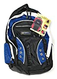 Overland Blue Deluxe Multi-Pocket Gadget Ready School and Travel Backpack