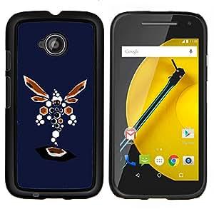 Caucho caso de Shell duro de la cubierta de accesorios de protección BY RAYDREAMMM - Motorola Moto E2 E2nd Gen - Resumen de la libélula