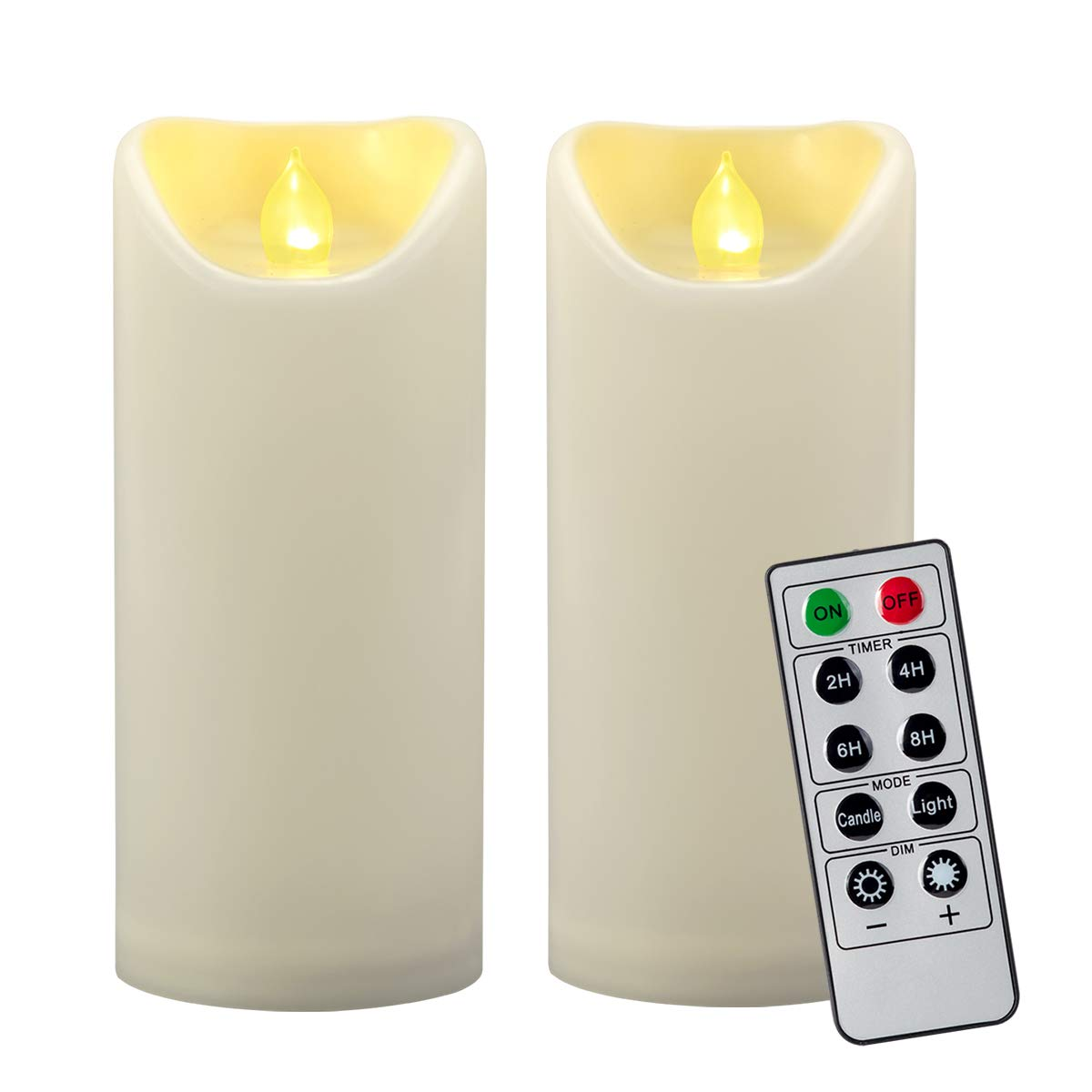 LED Solar Candle Lamp Flameless Waterproof Electronic Memorial Candle Decor