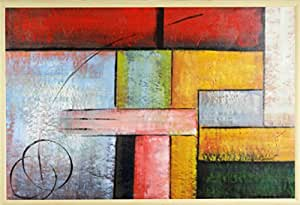 Conectado I–Pintura al óleo sobre lienzo 60x 90cm/24x 36inches enmarcado en Brown-gold de madera marco de fotos