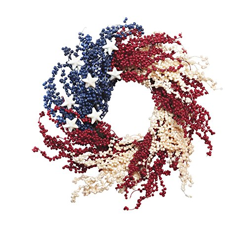 Collections Etc Americana Decorative Wreath