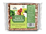 Manna Pro Seeds & Mealworm Snack Cake Treats, 6 oz