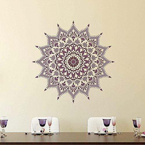 Mandala Stencil Radiance - Trendy Easy Beautiful DIY Wall Stencil Designs - Reusable Stencils for DIY Home Decor - By Cutting Edge Stencils (44'') by Cutting Edge Stencils (Image #6)