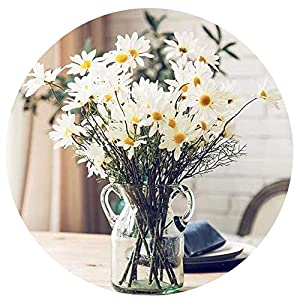 "Artfen 10 Pack Artificial Daisy Flowers Flower Arrangements for Home Hotel Office Wedding Party Garden Craft Art Decor Each Approx 21"" High No Vase White 41"