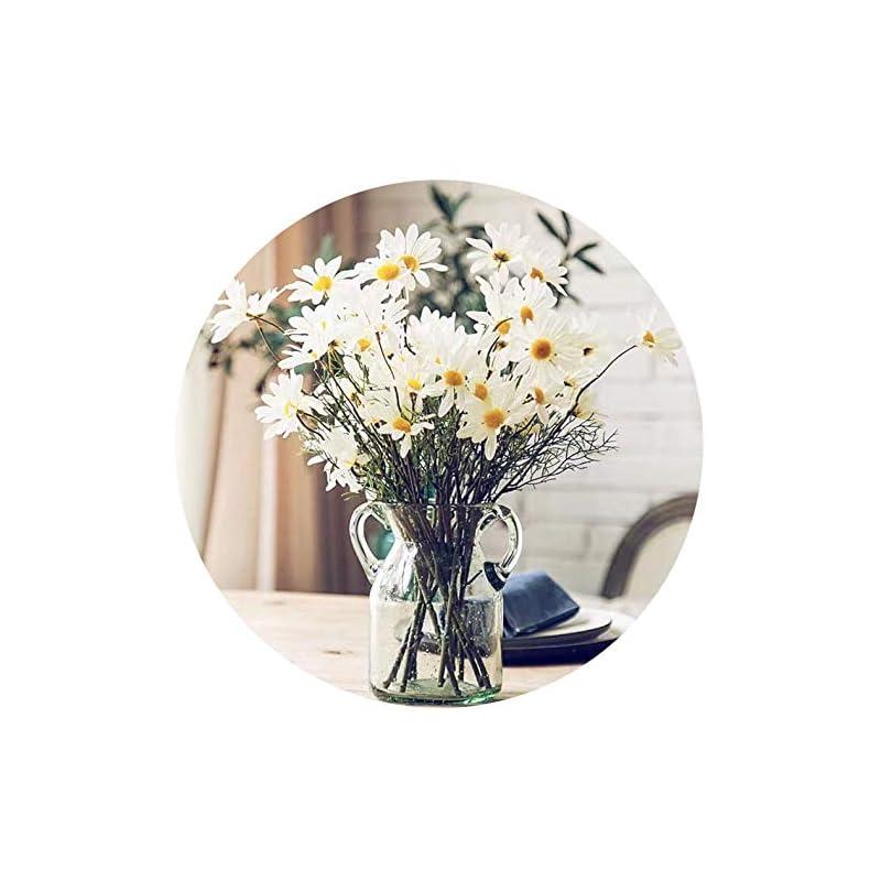 "silk flower arrangements artfen 10pcs artificial daisy flowers flower arrangements for home hotel office wedding party garden craft art decor each approx 21"" high no vase white"