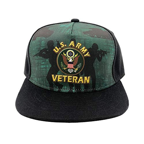 Channel Five US Army Veteran Snapback Hats for Men Adjustable Fitted Hats Baseball Cap