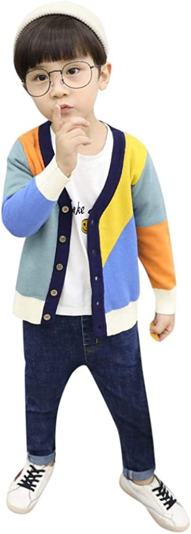 Boys Girls Baby Kids Rainbow Stripes Sweaters Soft Warm Childrens Sweater Coats Palarn Baby Clothes