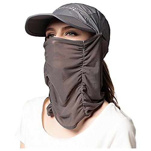 360度 UV99%カット アウトドア 帽子 日除け 日焼け防止 紫外線 対策 フェイスカバー ネックガード ゴルフ レディース メンズ UPF50+ PR-UPF50HAT