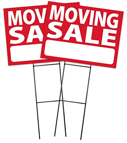 Moving Sale Sign Kit - 2 Pack (includes 2 signs and 2 stakes)