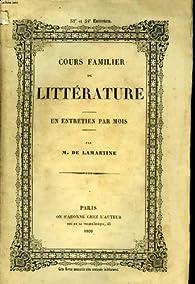 Book's Cover ofCours familier de littérature. n°53 et 54