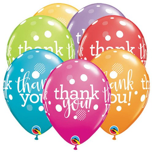 Qualatex Latex Balloons 49687-Q Thank Upon Dots, 11
