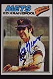 Ed Kranepool New York Mets Autographed 1977 Topps #201 Signed Card 16I