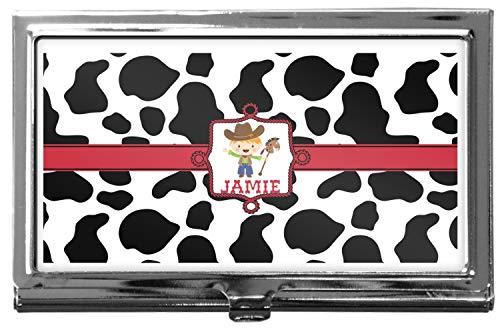 Cowprint w/Cowboy Business Card