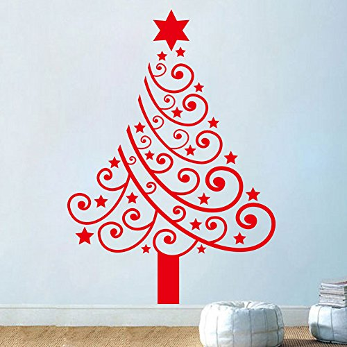 NOYT Wall Sticker Paper Mural Art Decal Home Room Decor Office Wallpaper For Bedroom Christmas Tree Childrens