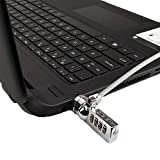Laptop Universal Security Combination Lock and Steel Cable Notebooks Desktops by bogo Brands