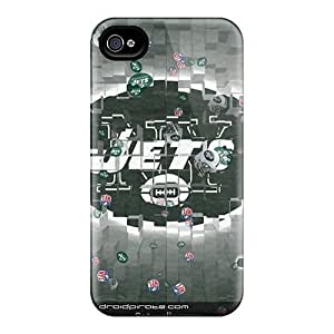 Scratch Protection Hard Cell-phone Cases For Iphone 4/4s (aYn3392rYHl) Allow Personal Design High Resolution New York Jets Pattern
