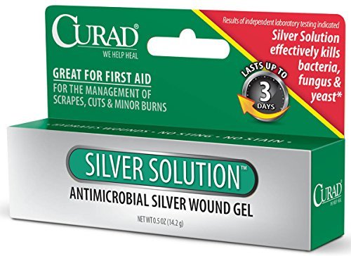 Curad Silver Solution Antimicrobial Gel  .5 oz (Pack of 2)