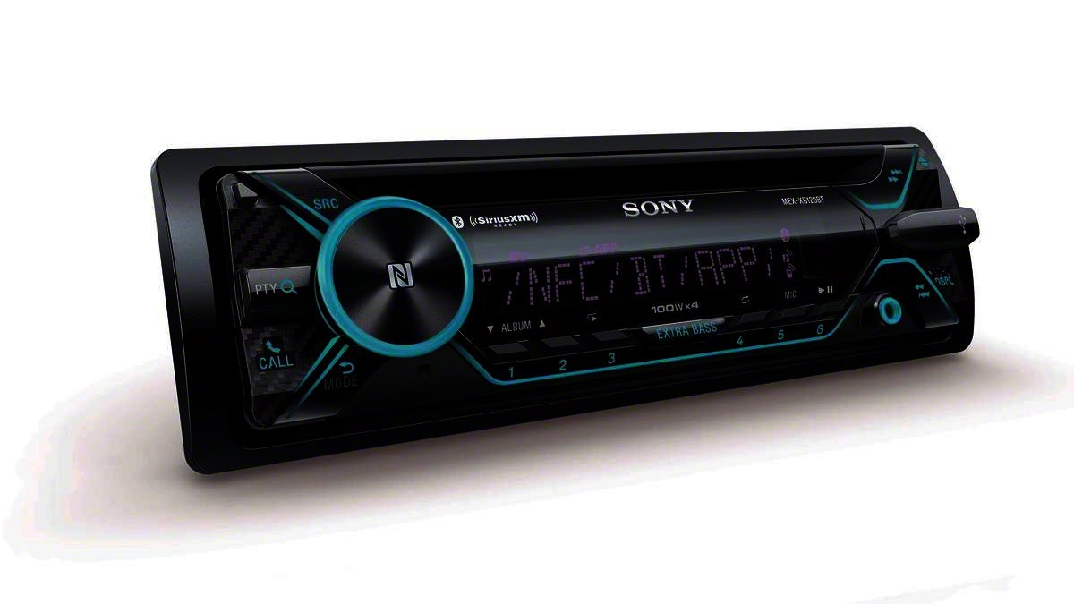 Sony MEX-XB100BT - Amplificador de 4 Canales Integrado para el Coche (Conector DIN Hi-Power, Bluetooth Integrado para CD/Am/FM/SiriusXM, 160 W RMS (CEA ...