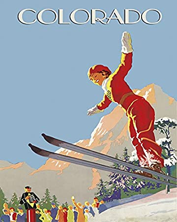 Cortina Snow Sun Winter Sport Kid Playing Bobsleigh Skiing Italy Travel Vintage Poster Repro FREE Shipping in USA Shipped Rolled-Up