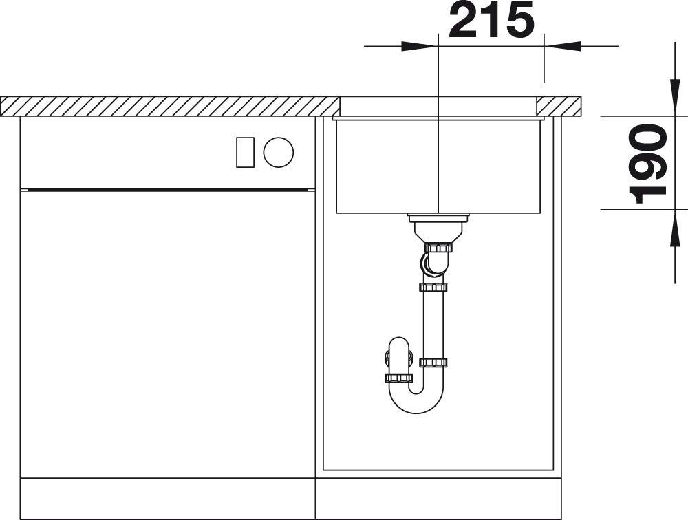 Blanco subline 400/de U 523/431/fregadero de cocina Cafe
