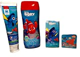 Personal Care, Hygiene for Kid's with Finding Dory; Toothpaste (Bubblegum Flavor, 4.2 oz), Bubble Bath (Bubbly Berry, 8fl oz), Washcloth (Grows in Water), Pocket Tissues (10 pc, 3-ply); 4-pc