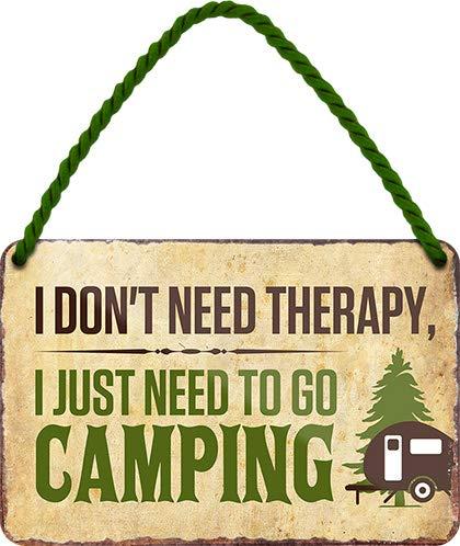 """513sbpRd5ML Blechschilder Lustiger Camping Spruch """"I Don't Need Therapy. Camping"""" Deko Metallschild Hängeschild Schild für Camper…"""
