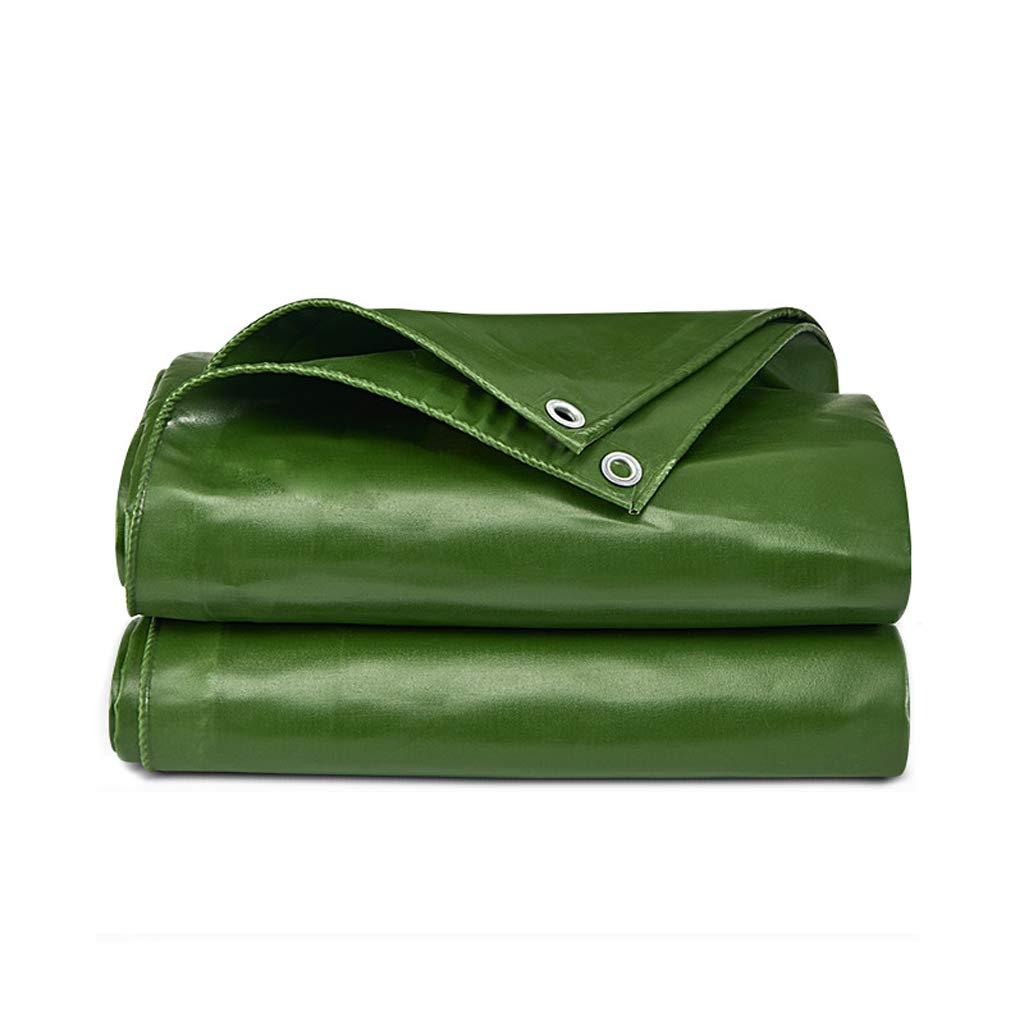 Tenda antipioggia verde pesante con telo parasole impermeabile forato per tende protettive - 560 g   m2, 0,55 mm, multi-piede opzionale (Dimensione   4m x 3m)