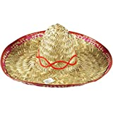 Hat Straw Sombrero Large for Fancy Dress Party Accessory by Pams
