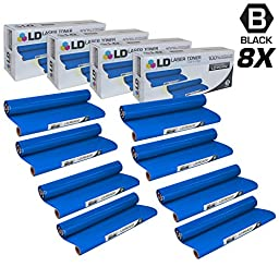 LD © Compatible Replacements for Brother PC402 Set of 8 Thermal Fax Ribbon Refill Rolls for use in Brother FAX 560, FAX 575, FAX 580MC, Intellifax 560, 565, 580MC, and MFC-660MC Printers