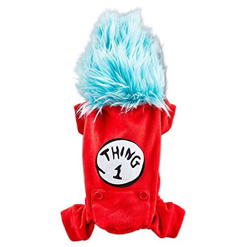DR. SEUSS Thing 1 Pajama for Dogs, Medium, Red