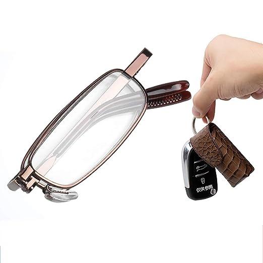 HLLZRY Gafas de Lectura colgables portátiles compactas ...