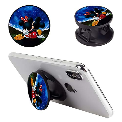DISNEY COLLECTION Multifunction Mickey and Minnie are Dating Cell Phone Stand Holder and Grip Foldable Expanding Kickstand Phone Mount Compatible All Tablets and Smartphones