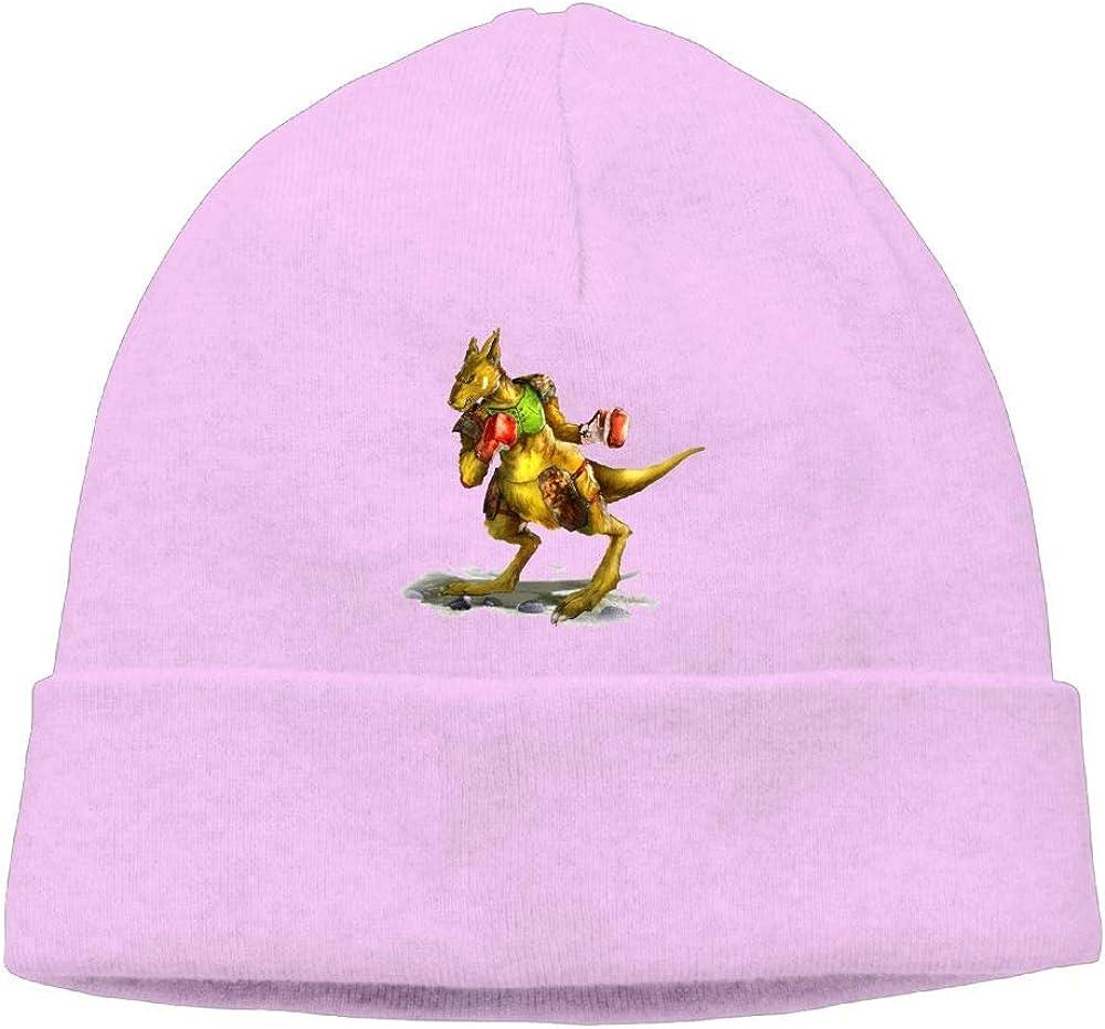 Beanie Knit Hats Skull Cap Cute Kangaroo Boxer Men Pink