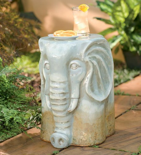 Ceramic African Elephant Stool