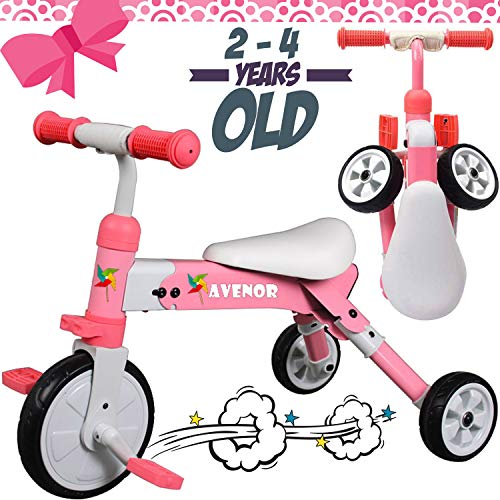 Avenor 2 in 1 Baby Tricycle - Trike for 2 Year Old and UP, Sturdy Boys Girls Tricycles for 3 Year Olds, Perfect Balance Bike for 2 Year Old Safe Tricycles for 2 Year Olds Ideal Toddler Trike
