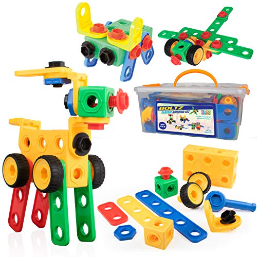 STEM Building Toys for Boys or Girls - 101pk Educational Building Gear Toys for Kids or Toddlers, STEM Building Gears & Educational Gear Learning Toys]()
