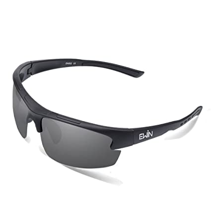 1d980f775b7 Image Unavailable. Image not available for. Color  Ewin E52 Polarized  Glasses Sports Sunglasses for Men Women Baseball Golf Driving Fishing  Cycling Running
