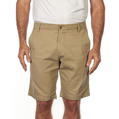 Iron Chino Shorts - Iron Clothing Pershing Flat Front Stretch Twill Short Color: Chino Size: (36)-(38)-(40) New (36)