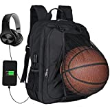 XQXA Extra Large School Backpack Mens Women USB Charging Port Headphone Port, Upgrade Slim Outdoor Sports Travel Bag Paded Laptop Compatment Fit 17 inch Laptops Notebook