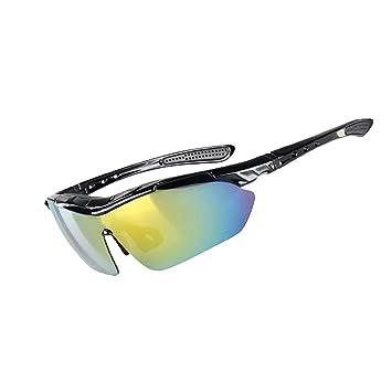 KUWOMINI.Casual Brille Outdoor Sport UV-Schutz-Fahrrad-Sonnenbrille,Silver-AllCode