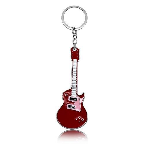 Llavero guitarra de música, eléctrica, bass, rock, con ...